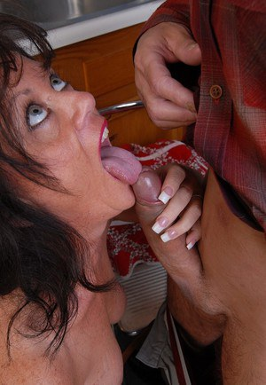 Cock hungry granny Debella relishes a man's swollen meat cannon