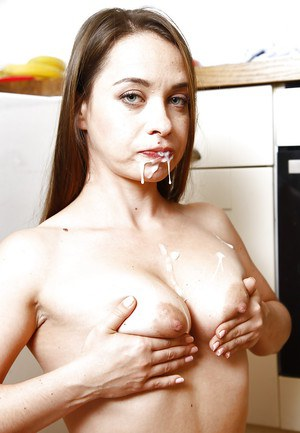 Euro MILF Olga Cabaeva sucked a big dick until it jizzed on her tits