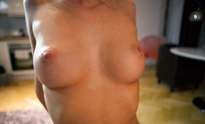 First time hottie Kiara L. shows off her all natural breasts