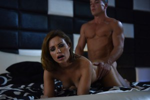 Pornstar Silvia Lauren is seduced and ass fucked by a big penis