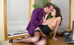 Office slut Whitney Westgate taking care of business with a blowjob