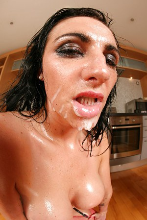 Oiled up MILF Lexi Ward gets her ass fisted and face covered in spunk