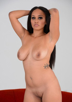 Smokin' striptease performance by alluring ebony chick Julie Kay