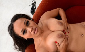 Young horny guy buries his dick deep in busty ebony vixen Julie Kay