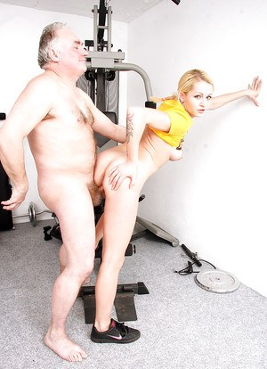 Hot young blonde girl gets deep ass fucking by a dirty old man