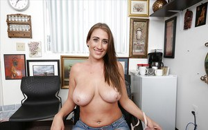 BBW Skyler Luv showing off her massive natural set of hooters