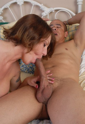 Hot older chick Kayla takes a black dick in her filthy mouth