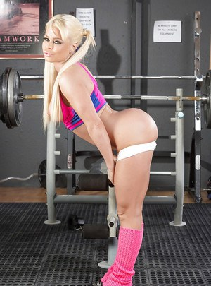 Cute little blonde pornstar in pigtails has a round ass to die for