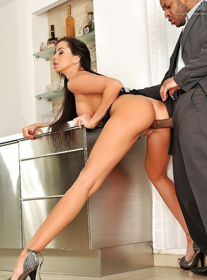 Long legged Euro chick Larissa Dee takes dick drilling from BBC