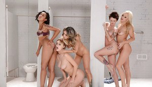 Nadia Styles, Natalia Starr and Skin Diamond having a lesbian threesome