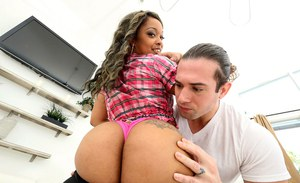 Big booty ebony girl Vixen Vanity oils of her big fat black ass