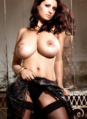 Busty babe Sammy Braddy flaunting her huge all natural breasts