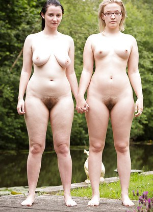 Chubby dykes Kylie H and Ren tongue kissing and eating hairy cunt outdoors