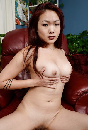 First time Oriental chick Lea Hart spreading labia and rubbing clitoris