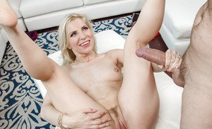 Blonde housewife Ashley Fires taking nasty facial cumshot and creampie