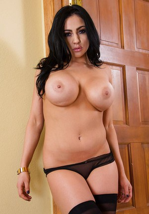 Slutty Audrey Bitoni having fun with her big boobs in lingerie