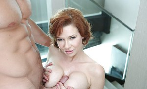 Busty redhead mature Veronica Avluv getting a juicy creampie