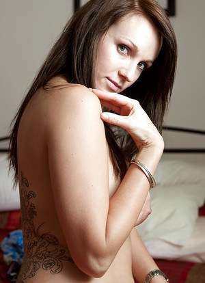 Amateur chick Melodie removes panties for close ups of hairy bush
