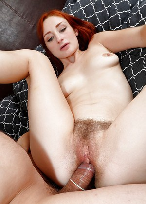 Redhead amateur Violet Monroe has sexy toes sucked on while giving blowjob