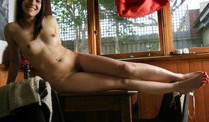 Amateur hottie Belinda A posing solo in various stages of undress