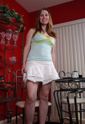MILF Rucca flashes her panties at dinner table and masturbates