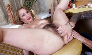 BBW Dana Karnevali takes a hard hairy cunt pounding and creampie
