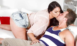 Buxom babe Alison Tyler gives cock of best girlfriend a blowjob