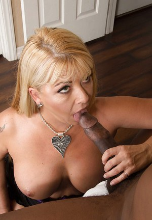 Thick blonde housewife Joclyn Stone gives up mouth and pussy to a BBC