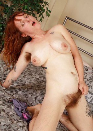 Hirsute older woman Velma flaunting her hairy legs and armpits