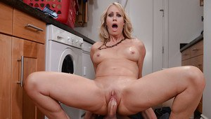 Beautiful blonde Mom Simone Sonay getting deeply penetrated hardcore