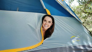 Outstanding young whore Dillion Harper getting fucked on a camping trip