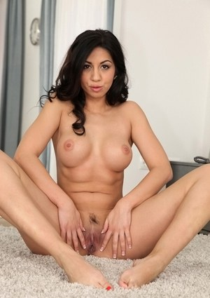 Busty brunette mom in glasses Julia De Lucia stripping off hose and skirt
