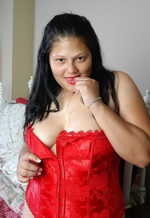Busty BBW mature Nancy getting naughty in hot revealing lingerie