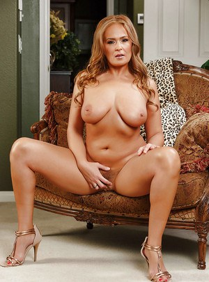 Chunky mom Elexis Moore flashes pretty young girl panties under dress