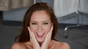 Intake nurse Maddy Oreilly opens wide and intakes a load of jizz