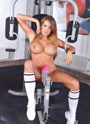 Buxom Euro babe Charley Atwell exposing huge knockers in close ups