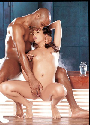 Top rated MILF babe Gisselle giving handjob to large black penis