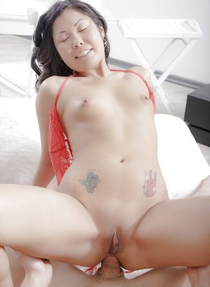Pretty Asian Miranda having pussy licked and asshole fingered by white bf