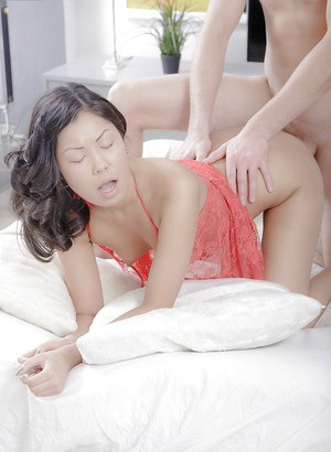 Lovely interracial sex session between Asian chick Miranda and white bf
