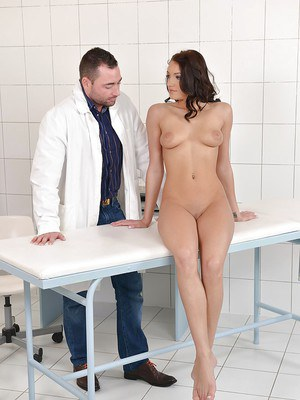 Girl next door Felicia Kiss pays a visit to creepy gyno doctor
