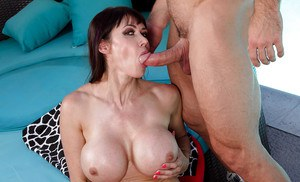 Big boobed MILF Eva Karera letting massive melons loose for tit smothering