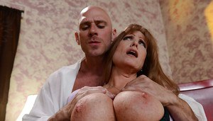 Big boobed mommy Darla Crane taking titty fucking from long penis