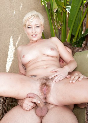 Short haired blond amateur Nora Skyy giving and receiving homemade oral sex