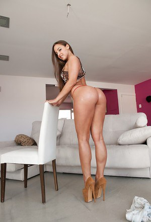 Large bottomed Latina babe Amirah Adara showing off her big round butt