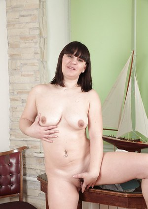 Overweight Belta takes off her clothes and touches herself sensually