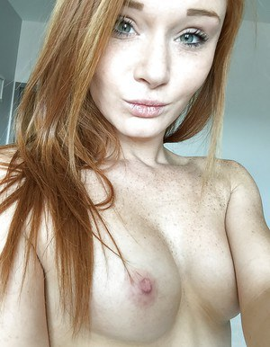 Petite ginger Alex Tanner shows off her amazing and skinny body