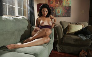Geeky young Dana Vespoli loves to pose her tiny body on camera