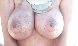 Redhead Tessa Fowler has the most gigantic fake tits ever seen