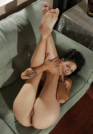 Dana Vespoli enjoys some nude time after studying hard all day