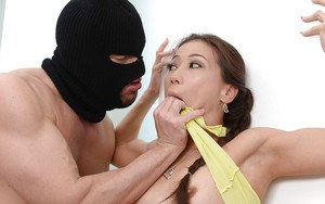 Asian mom Kalina Ryu if forced to suck and fuck cock by masked man